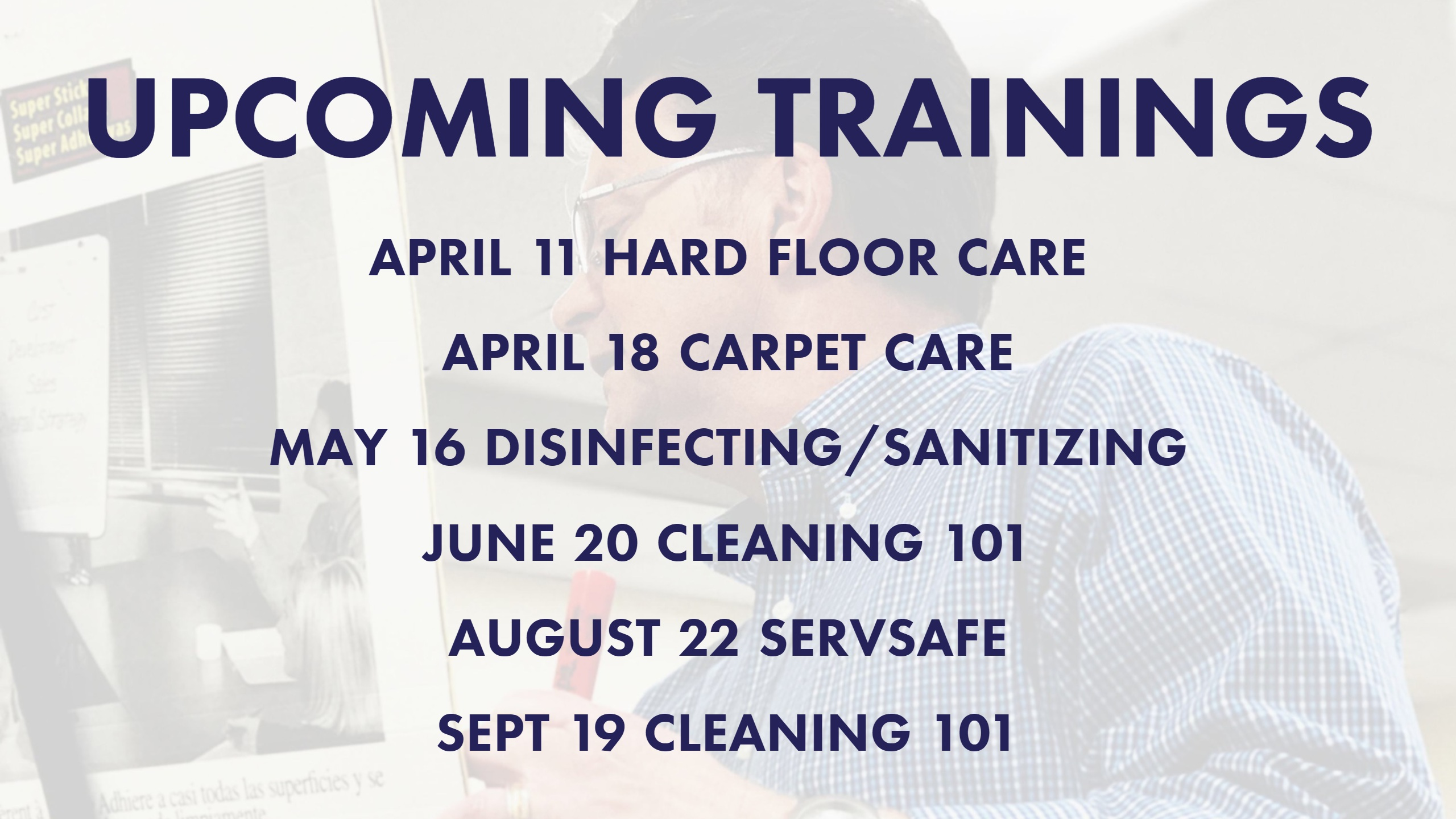 Upcoming Trainings