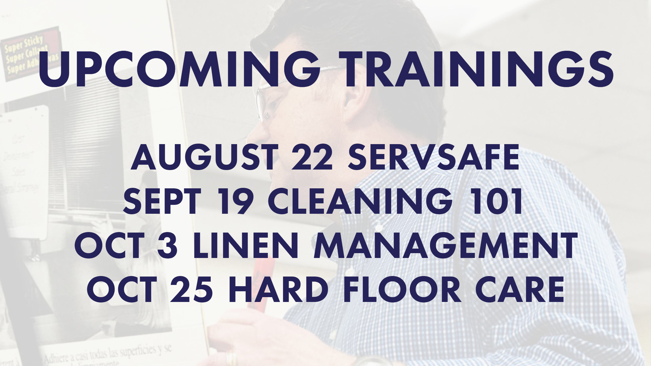 Upcoming Trainings