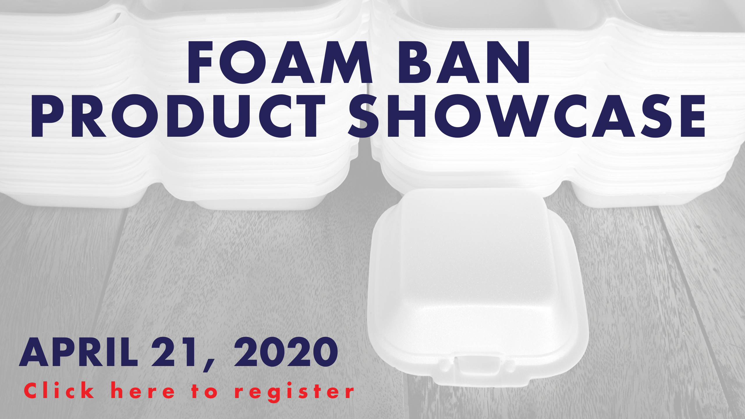 Foam Ban Alternative Product Showcase